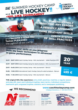 Czech Hockey Camp with tournament NHL